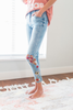Love Birds Embroidered Jeans