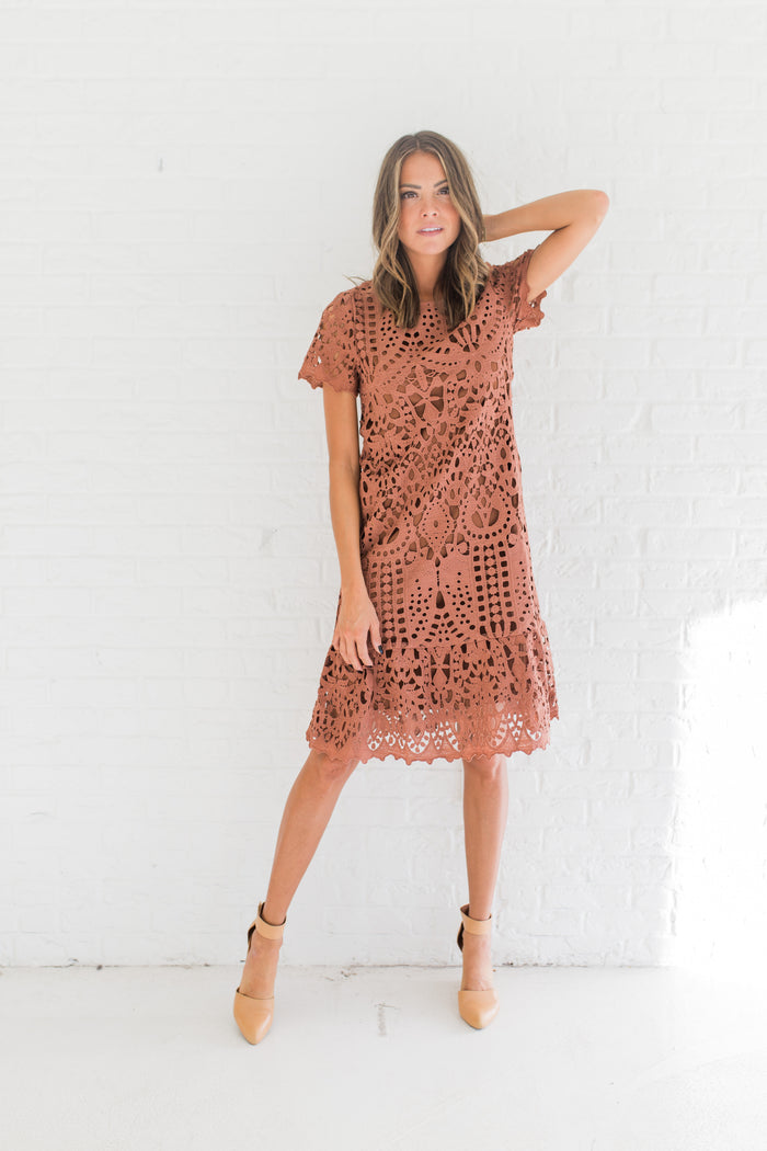 Marsala Lace Dress