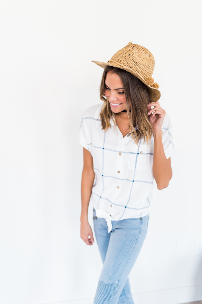 Sea Breeze Button Up