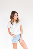 Whenever I'm With You Striped Tee