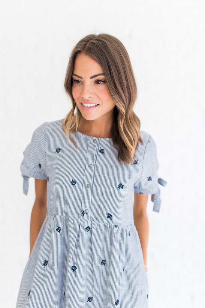 Pinstripe Mali Dress