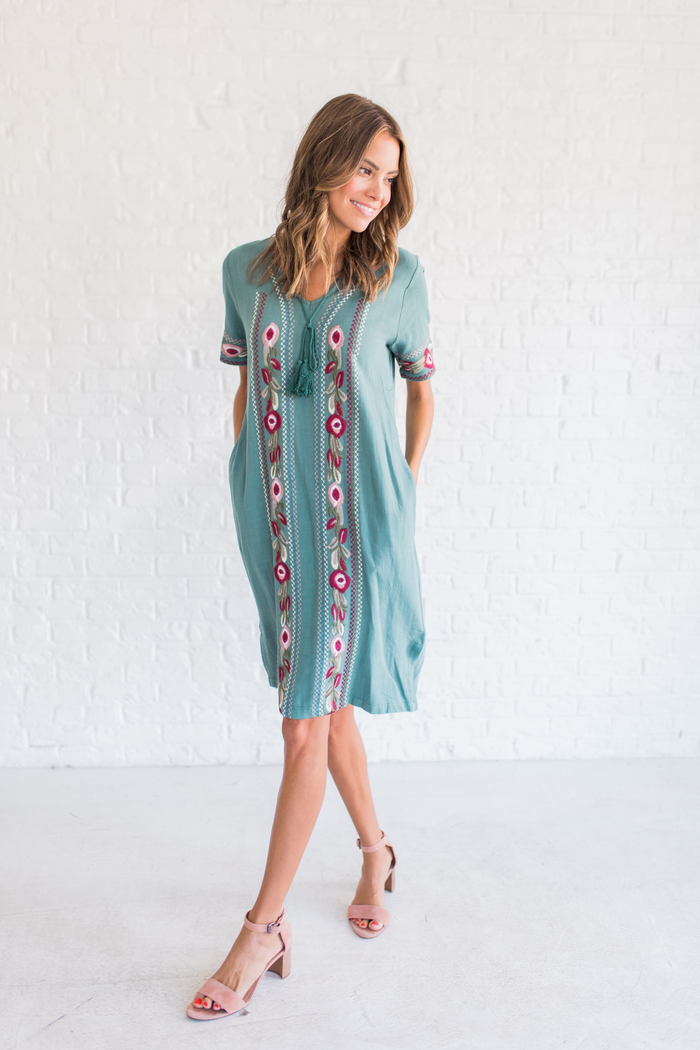 Lyla Embroidered Dress