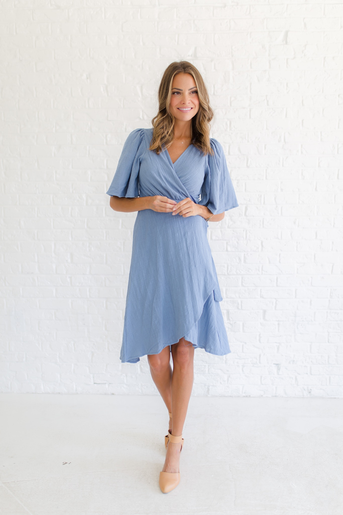 Small Town Girl Wrap Dress