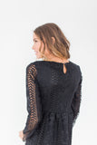 Niya Lace Dress in Black