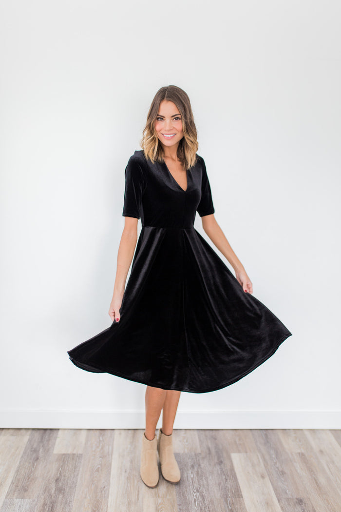 Velvet Valley Dress