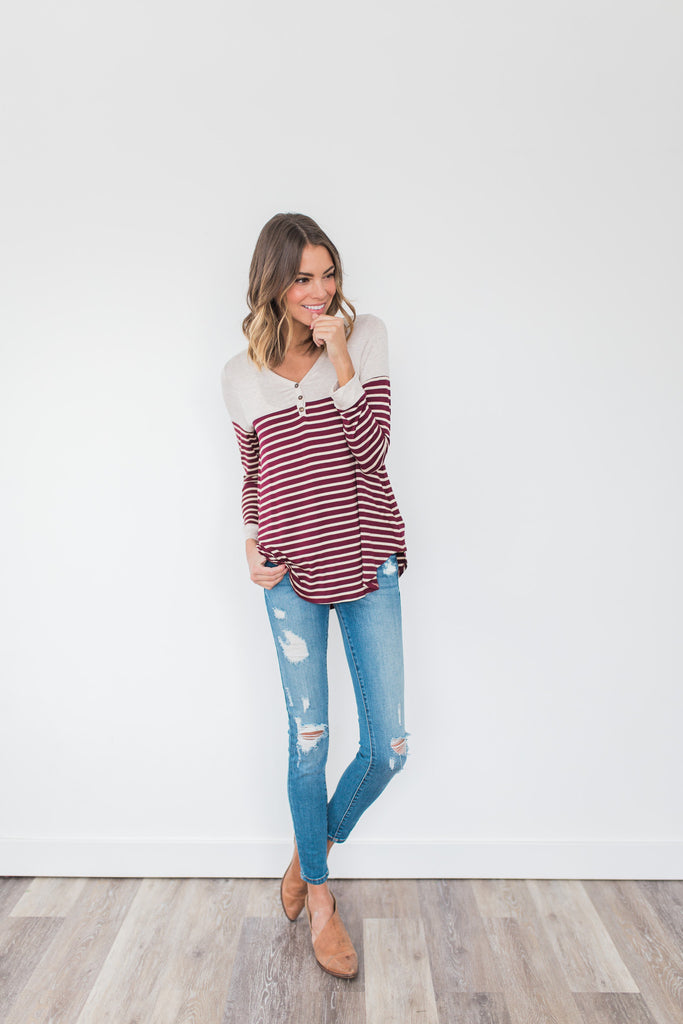 Kansas Striped Henley