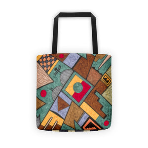 Birds Gathering Rain Clouds Tote bag
