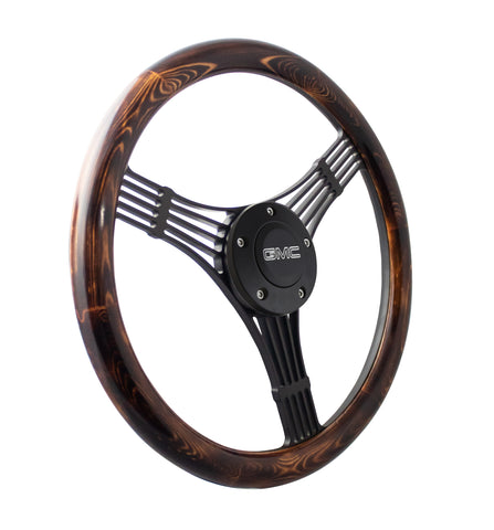 "14"" Black Discord Banjo - Flamed Pine"