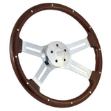 "18"" Chrome Dual Classic - Wood w/ Rivets"