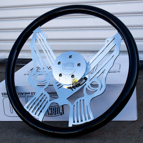 "PREORDER 18"" Chrome Pistol - Black"