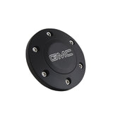 Black Billet GMC Modern Logo Horn Button - 6 Hole