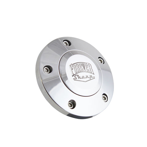 Polished Billet Forever Sharp Horn Button - 5 Hole
