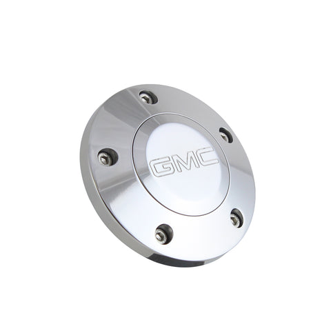 Polished Billet Modern GMC Horn Button - 5 Hole