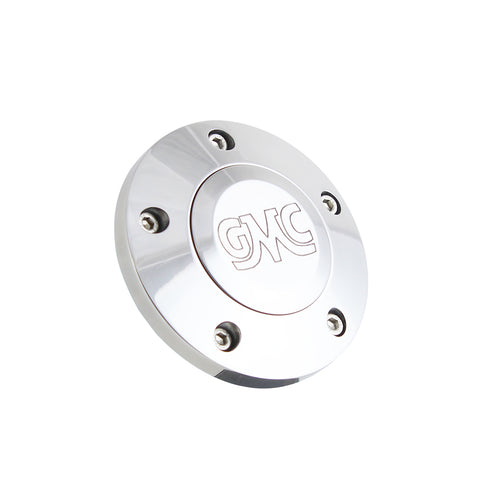 Polished Billet GMC Retro Horn Button - 5 Hole