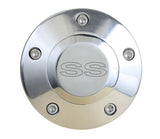 Polished Billet SS Horn Button - 5 Hole