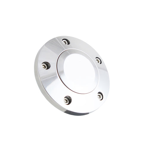 Polished Billet Horn Button - 5 Hole