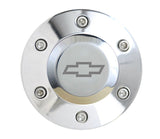 Polished Billet Chevy Horn Button - 6 Hole