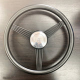 "FACTORY 2ND: 14"" BLACKOUT STAINLESS STEEL BANJO WHEEL W/ HORN"