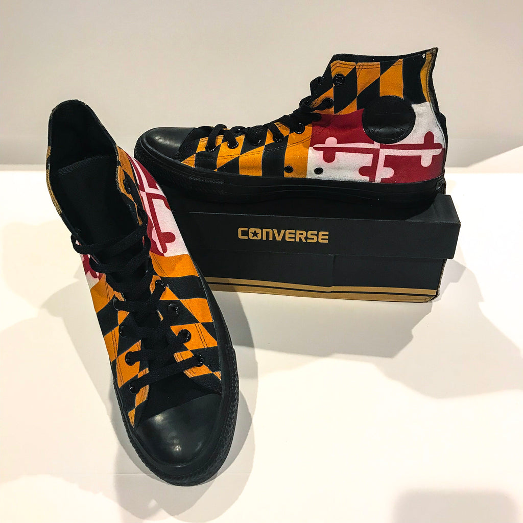 superior quality on sale finest selection MD Flag Converse Hi Top Shoes