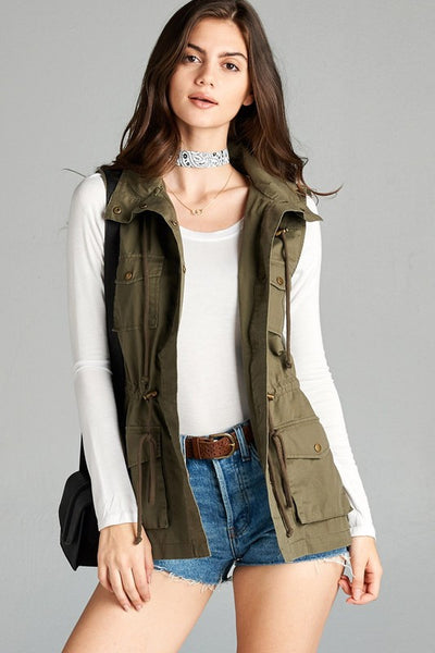 Army Green Military Vest