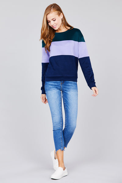 Stella Top (Hunter Green & Lilac)