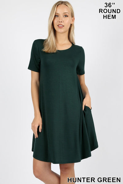 Sadie Swing Dress (Hunter Green)