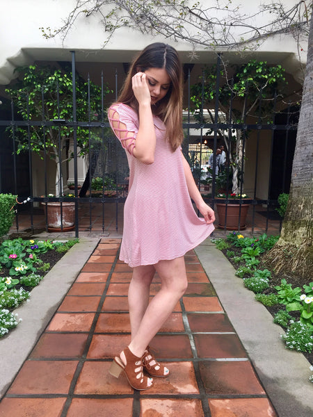 Dusty Rose Skater Dress