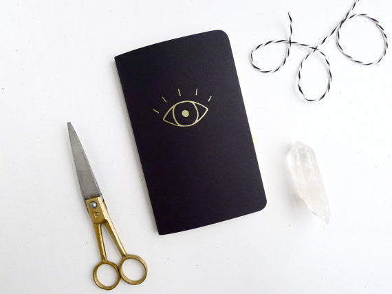 Gold Evil Eye Jotter Notebook by Middle Dune