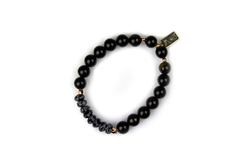 Black Obsidian Bracelet [Cleanses Negativity, Protects, Grounds]