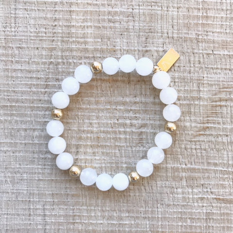 Snow Quartz Bracelet [Alignment, Clarity, Patience]