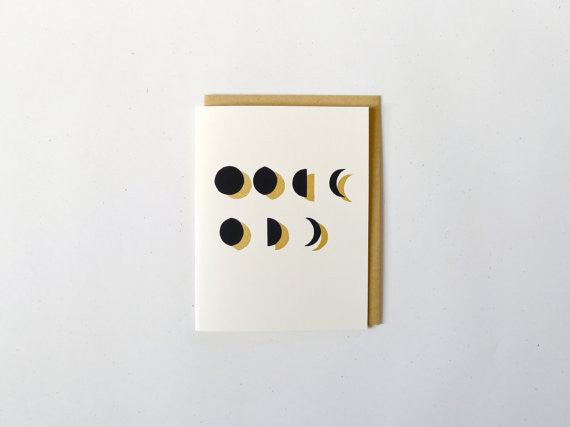 Moon Phase Notecard Set by Middle Dune