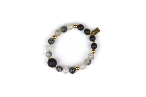 Tourmalated Quartz Bracelet [Aura Cleansing, Grounding, Banishes Bad Vibes]