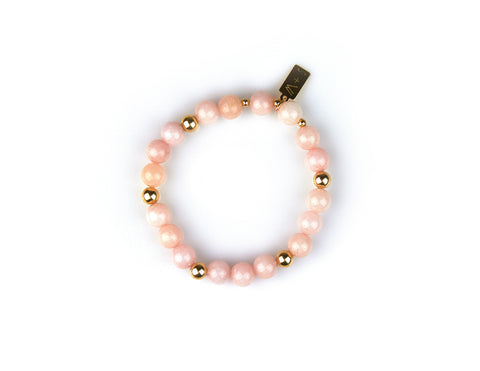 Pink Jade Bracelet [Tranquility, Compassion, Inner Glow]