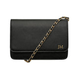 BACK IN STOCK! - BLACK CROSS BODY CLASSIC CHAIN BAG - GOLD HARDWARE