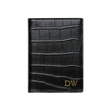 SOLD OUT - BLACK CROCODILE PRINT PASSPORT HOLDER