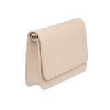 TAUPE CROSS BODY CLASSIC LEATHER STRAP - Gold Hardware