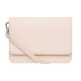PALE PINK CROSS BODY CLASSIC LEATHER STRAP - Silver Hardware