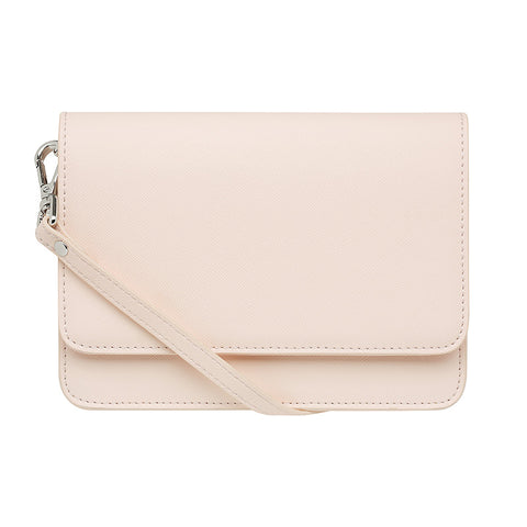 PALE PINK CROSS BODY CLASSIC LEATHER STRAP - Gold Hardware