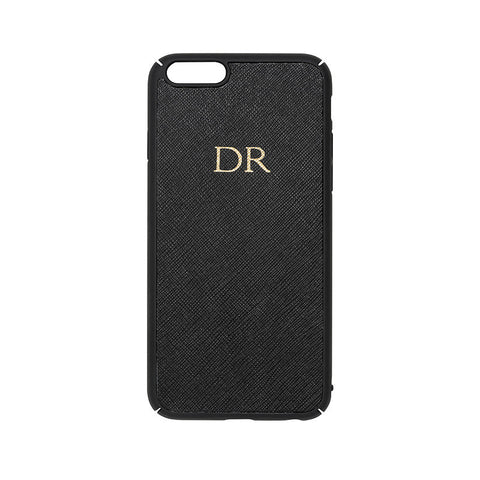 BLACK SAFFIANO IPHONE COVER 6 & 6S