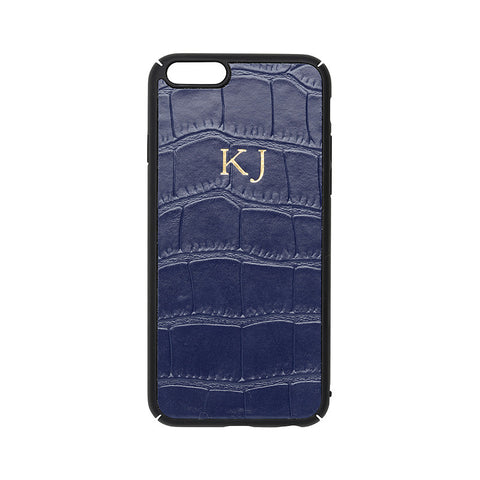 NAVY CROCODILE IPHONE COVER 6 & 6S