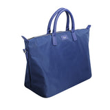 NAVY BLUE OVERNIGHT BAG GOLD HARDWARE