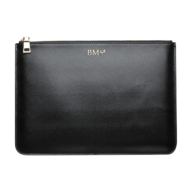IPAD POUCH - BLACK GOLD ZIP