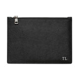 SOLD OUT - BLACK SILVER ZIP POUCH