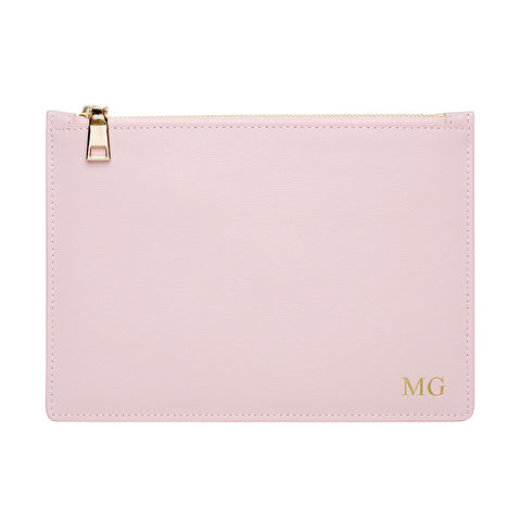 PINK GOLD ZIP POUCH
