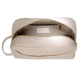SOLD OUT - PALE PINK TRAVEL / TOILETRY WASH BAG - GOLD ZIPS