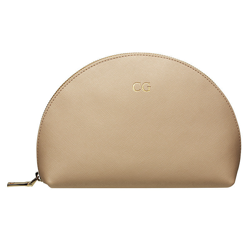 TAUPE LARGE ARCH COSMETIC CASE