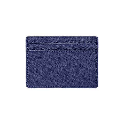 SOLD OUT - NAVY BLUE 5 SLOT CARD HOLDER - SAFFIANO LEATHER