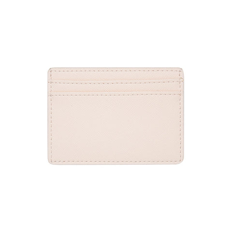SOLD OUT - PALE PINK 5 SLOT CARD HOLDER - SAFFIANO LEATHER