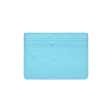 SOLD OUT - SKY BLUE 5 SLOT CARD HOLDER - OSTRICH PRINT