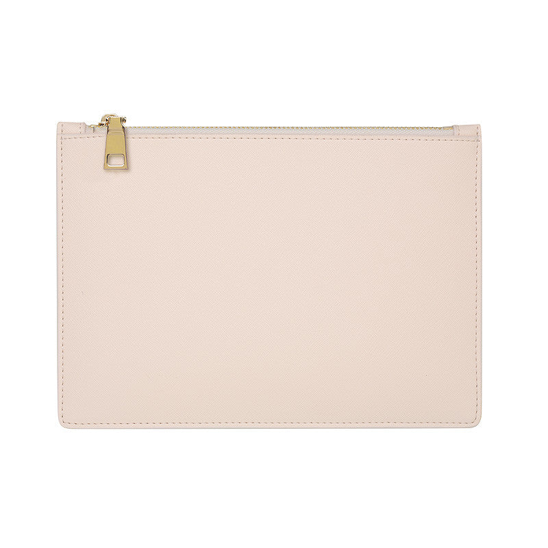 PALE PINK GOLD ZIP POUCH